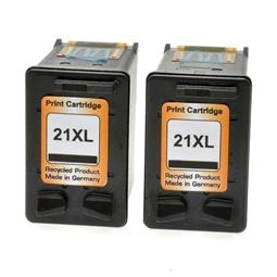 Logic-Seek 2 Tintenpatronen kompatibel zu HP 21 C9351AE XL Schwarz