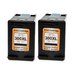 Logic-Seek 2 Tintenpatronen kompatibel zu HP 300X CC641EE XL Schwarz