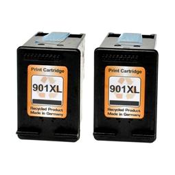 Logic-Seek 2 Tintenpatronen kompatibel zu HP 901XL CC654AE XL Schwarz