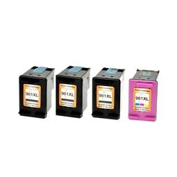 Logic-Seek 4 Tintenpatronen kompatibel zu HP 901 XL