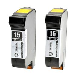 Logic-Seek 2 Tintenpatronen kompatibel zu HP 15 C6615DE XL Schwarz