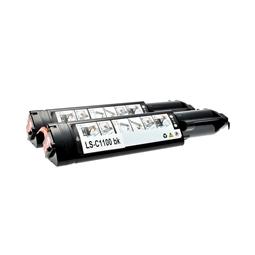 Logic-Seek 2 Toner kompatibel zu Epson C1100 0190 C13S050190 HC Schwarz