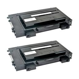 Logic-Seek 2 Toner kompatibel zu Samsung CLP-500 CLP-550 CLP-500D7K/ELS HC Schwarz