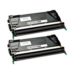 Logic-Seek 2 Toner kompatibel zu Lexmark C520 C522 C530 C5222KS HC Schwarz