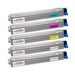 Logic-Seek 5 Toner kompatibel zu OKI C9600 HC