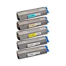 Logic-Seek 5 Toner kompatibel zu OKI C5850 HC