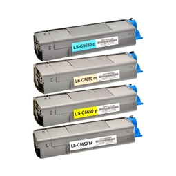 Logic-Seek 4 Toner kompatibel zu OKI C5650 HC