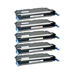 Logic-Seek 5 Toner kompatibel zu HP Q6470A-Q6473A 3600 HC