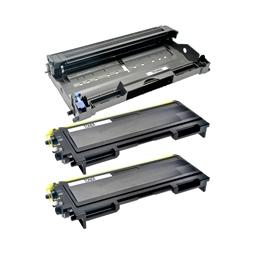 Logic-Seek 2 Toner und 1 Trommel kompatibel zu Brother TN-2000 DR-2000 Schwarz