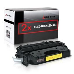 Logic-Seek 2 Toner kompatibel zu HP 05X CE505X HC Schwarz