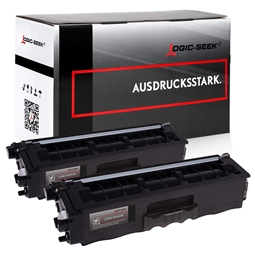 Logic-Seek 2 Toner kompatibel zu Brother TN-325BK HC Schwarz