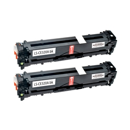 Logic-Seek 2 Toner kompatibel zu HP 128A CE320A HC Schwarz