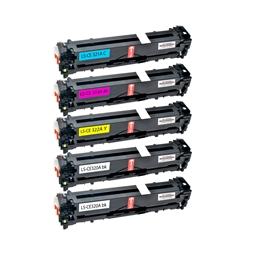 Logic-Seek 5 Toner kompatibel zu HP CE320A-CE323A HC