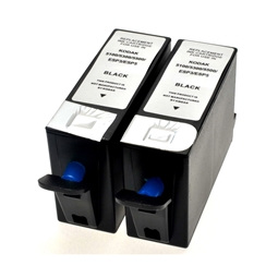 Logic-Seek 2 Tintenpatronen kompatibel zu Kodak 10B 3949914 XL Schwarz