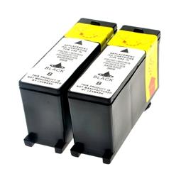 Logic-Seek 2 Tintenpatronen kompatibel zu Lexmark 100XLA 14N1092E XL Schwarz