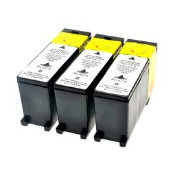 Logic-Seek 3 Tintenpatronen kompatibel zu Lexmark 100XLA 14N1092E XL Schwarz