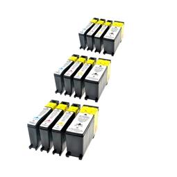 Logic-Seek 12 Tintenpatronen kompatibel zu Lexmark 100XLA XL