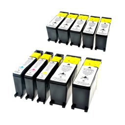 Logic-Seek 10 Tintenpatronen kompatibel zu Lexmark 100XLA XL