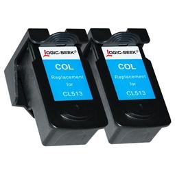 Logic-Seek 2 Tintenpatronen kompatibel zu Canon CL-513 2971B001 XL Color