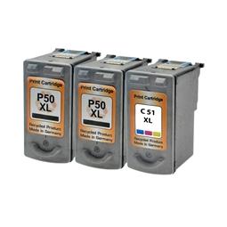 Logic-Seek 3 Tintenpatronen kompatibel zu Canon PG-50 CL-51 HC XL