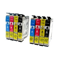 Logic-Seek 8 Tintenpatronen kompatibel zu Epson T1281-T1284 XL