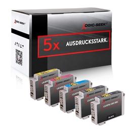 Logic-Seek 5 Tintenpatronen kompatibel zu Epson T1291-T1294 XL