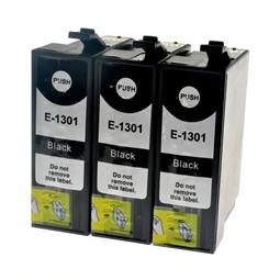 Logic-Seek 3 Tintenpatronen kompatibel zu Epson Stylus SX620 T1301 C13T13014010 XL Schwarz