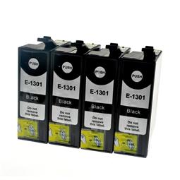 Logic-Seek 4 Tintenpatronen kompatibel zu Epson Stylus SX620 T1301 C13T13014010 XL Schwarz