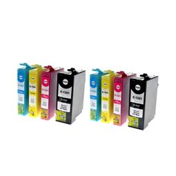 Logic-Seek 8 Tintenpatronen kompatibel zu Epson T1301-T1304 XL