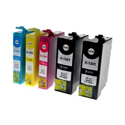 Logic-Seek 5 Tintenpatronen kompatibel zu Epson T1301-T1304 XL