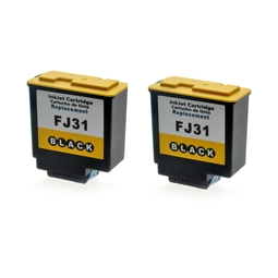 Logic-Seek 2 Tintenpatronen kompatibel zu Olivetti FJ31 B0336 XL Schwarz