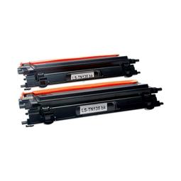 Logic-Seek 2 Toner kompatibel zu Brother TN-135BK HC Schwarz
