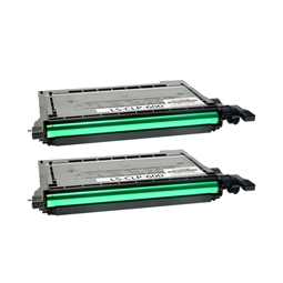 Logic-Seek 2 Toner kompatibel zu Samsung CLP-600 CLP-K600A/ELS HC Schwarz