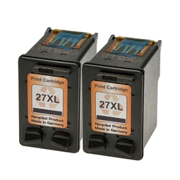 Logic-Seek 2 Tintenpatronen kompatibel zu HP 27 C8727AE XL Schwarz
