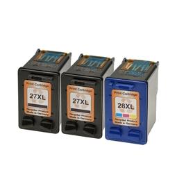 Logic-Seek 3 Tintenpatronen kompatibel zu HP 27 28 XL