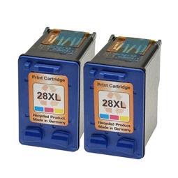 Logic-Seek 2 Tintenpatronen kompatibel zu HP 28 C8728AE XL Color