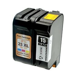 Logic-Seek 2 Tintenpatronen kompatibel zu HP 15 23 XL