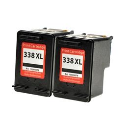 Logic-Seek 2 Tintenpatronen kompatibel zu HP 338 C8765EE XL Schwarz