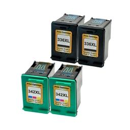 Logic-Seek 4 Tintenpatronen kompatibel zu HP 336 342 XL
