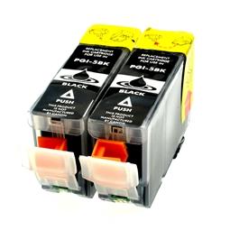 Logic-Seek 2 Tintenpatronen kompatibel zu Canon PGI-5BK 0628B001 XL Schwarz