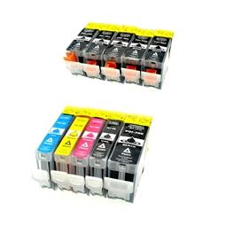 Logic-Seek 10 Tintenpatronen kompatibel zu Canon PGI-5 CLI-8 XL