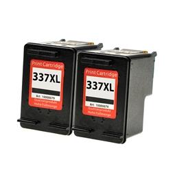 Logic-Seek 2 Tintenpatronen kompatibel zu HP 337 C9364EE XL Schwarz