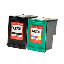 Logic-Seek 2 Tintenpatronen kompatibel zu HP 337 343 XL