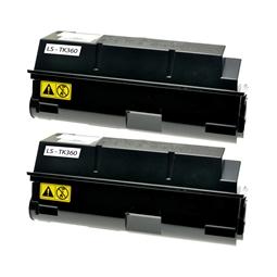 Logic-Seek 2 Toner kompatibel zu Kyocera TK-360 1T02J20EU0 HC Schwarz