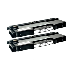 Logic-Seek 2 Toner kompatibel zu Lexmark E120 XL 12036SE HC Schwarz