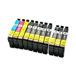 Logic-Seek 10 Tintenpatronen kompatibel zu Epson T0711-T0714 Stylus D78 XL