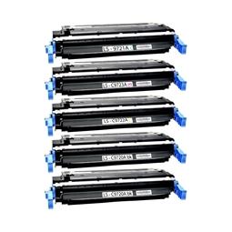 Logic-Seek 5 Toner kompatibel zu HP C9720A-C9723A 4600 HC
