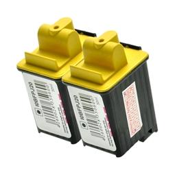 Logic-Seek 2 Tintenpatronen kompatibel zu Olivetti FPJ20 B0384 XL Schwarz