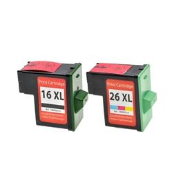 Logic-Seek 2 Tintenpatronen kompatibel zu Lexmark 16 26 XL