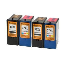 Logic-Seek 4 Tintenpatronen kompatibel zu Lexmark 36XLA 37XLA XL